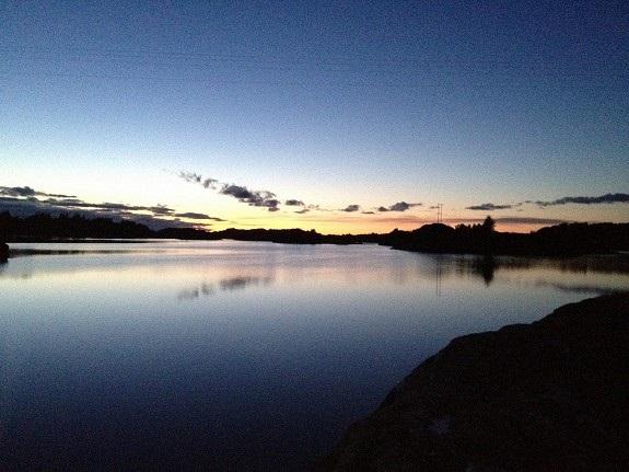 Solnedgang Åråsen